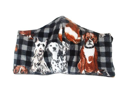 Dog Days Flannel face mask