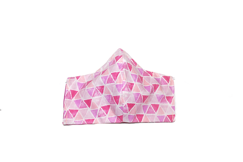 Triangles (pink) face mask