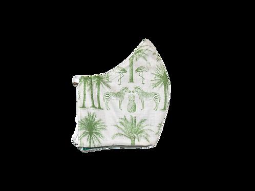 Green Tropics face mask
