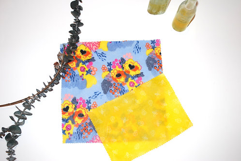 Flower Market & Yellow Bees - Set of Two