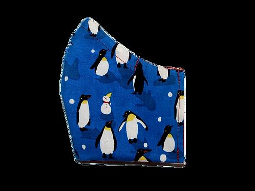 Winter Penguins face mask