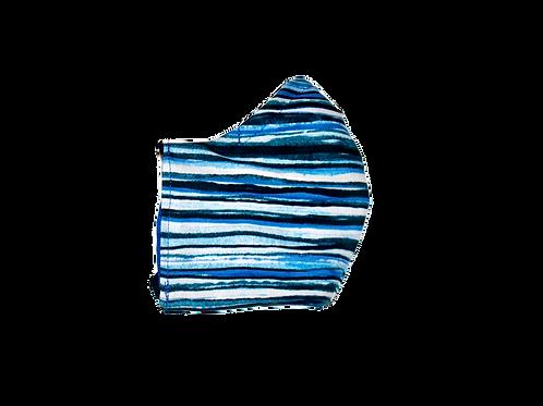 Stripes (blue) face mask