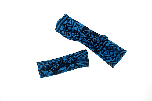 Mommy & Me (Aztec stretch headband with bow)