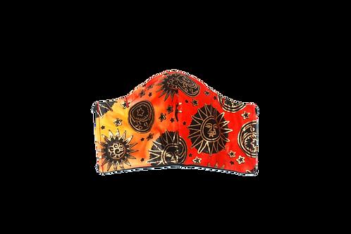 Metallic Sun Batik face mask