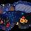 Thumbnail: Flowers eye  mask (black)
