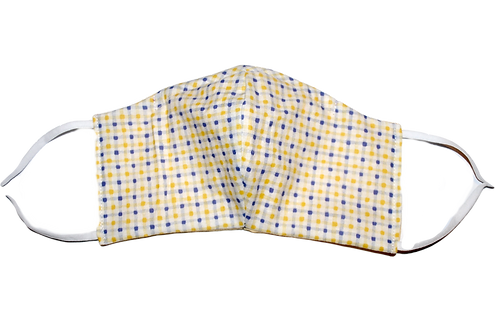 Gingham (yellow) face mask
