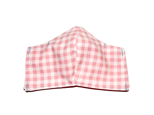 Gingham (pink) face mask