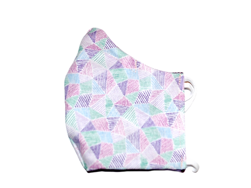 Triangles (purple) face mask