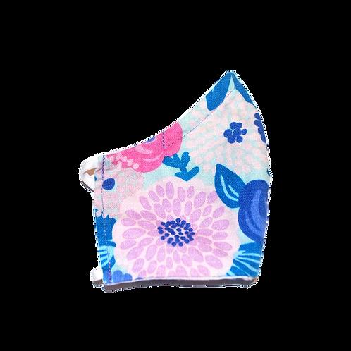 Flower Power (blue) face mask