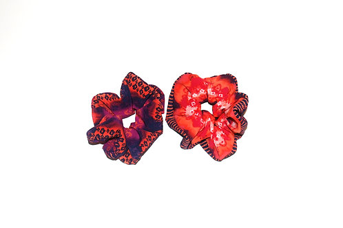 Patterned Silk scrunchie