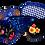 Thumbnail: Floral eye mask (navy)
