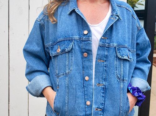 Customize Your Own (Oversized Medium Wash denim jacket)