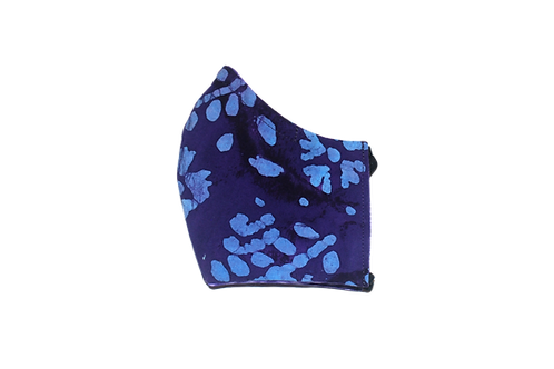 Batik (purple) face mask