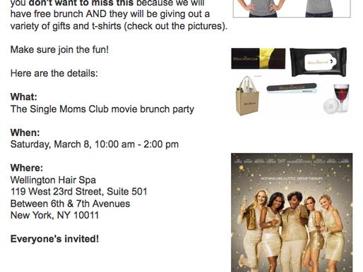 Single Moms Club Event