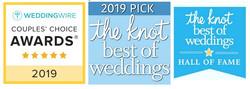 2019 WeddingWire THe Knot Award HALL OF