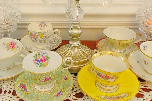 "Tea ""Riley"" Party Set  (3pc set)-Tea Cup, Saucer & Teaspoon"