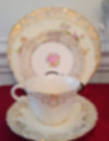 Vintage Rentals in PA, mismatched Vintage China, Candelabras & Special Wedding Decor Rentals