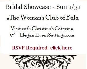 Bridal Showcase January 31st - RSVP here