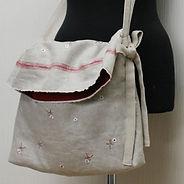 刺しゅうリネン斜め掛けバッグの作り方・型紙