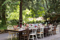 long table on outdoor