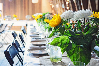flower decorated table