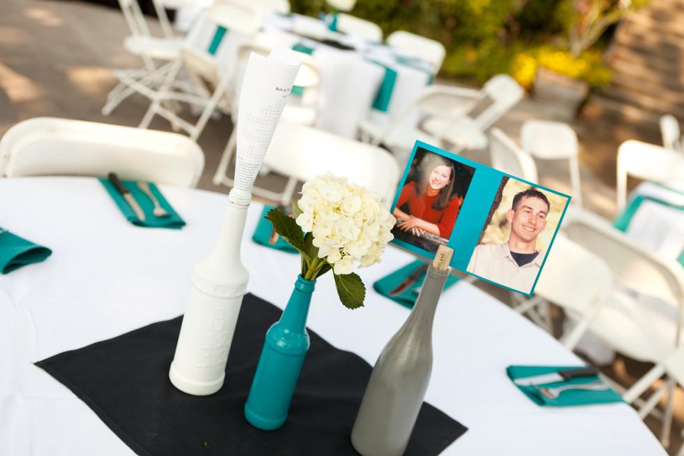 flower vase on center table