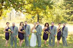 groomsmen and bridesmaid