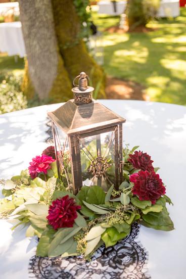 Flower on center table