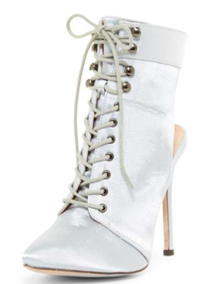 Silver Pointed Lace Up