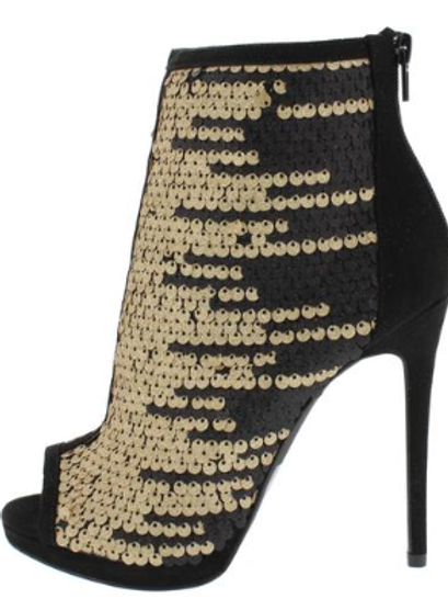 Sequin Ankle Boot