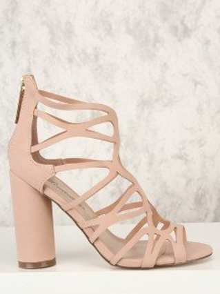Blush Cut Peep Toe