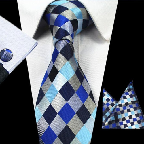 Tie navy patterned Nicky