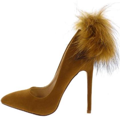 Faux Fur Pointed Heel