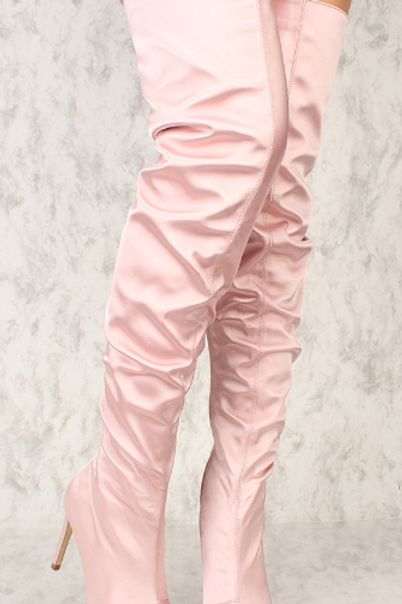 Blush Pointy Closed Toe Boot