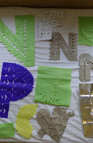 Paper-cuts of letters