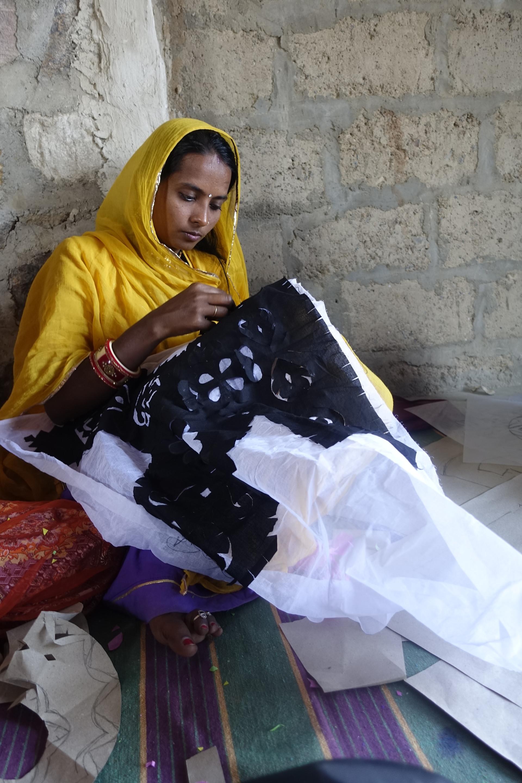 Nirmala, an artisan-design at the Barmer Applique workshop