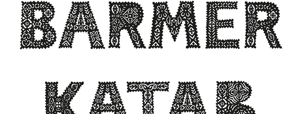 Barmer Katab Typeface (Latin script font)