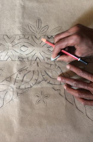 Kastura Ram working on the design of the K