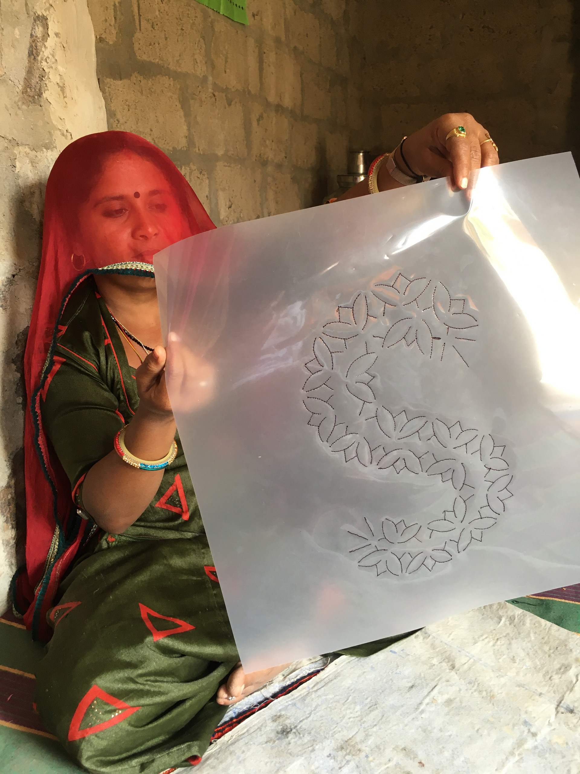 The process of tinching, which is something new for many of the craftswomen