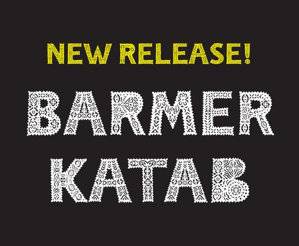 Barmer Katab Applique Typeface
