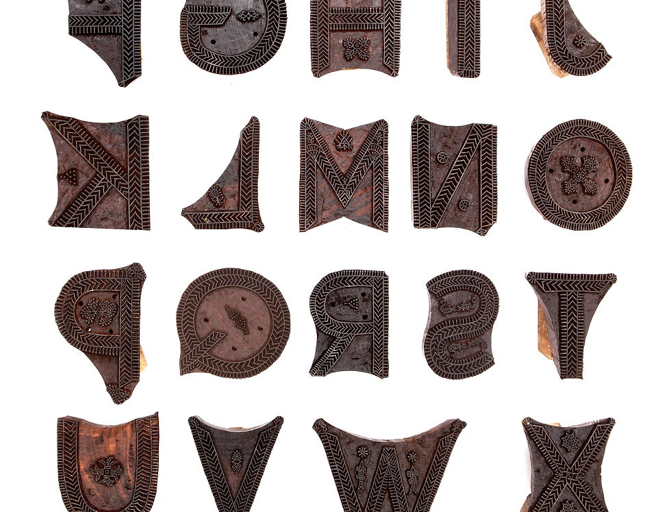 Godna Tattoo Wooden Blocks (digital poster)