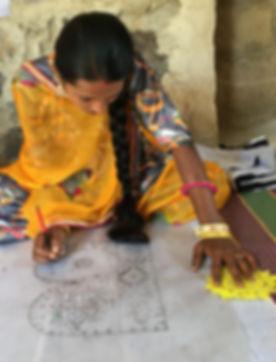 One of the craftswomen, Nirmala working