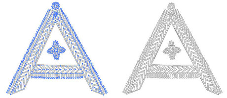 Vector of Godna tattoo typeface