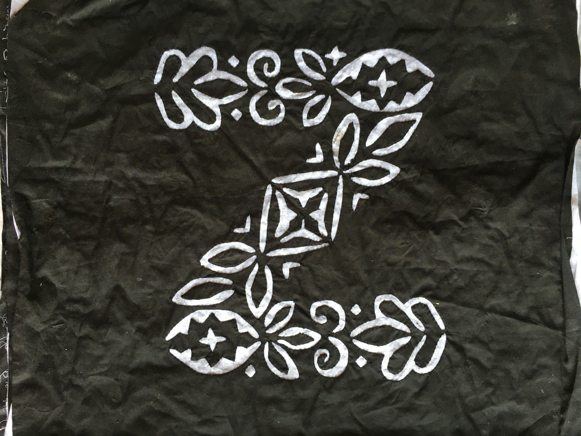 A completed applique of the letter Z Barmeri Kataav-ka-kaam