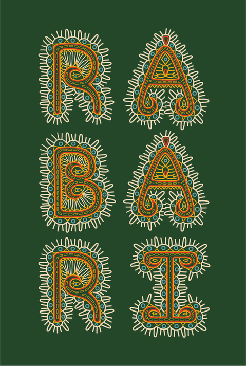Rabari Nomadic Embroidery Font (coming soon)