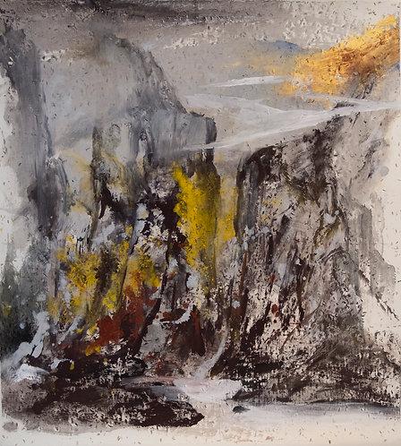 赤壁巖流 Cliff and Waterfall