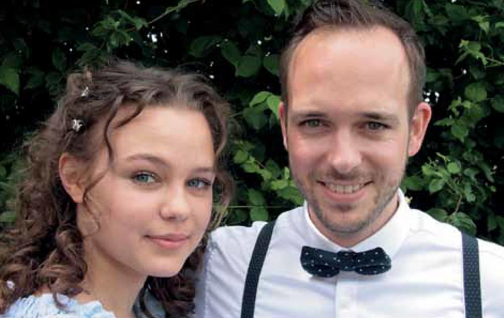 Der Meister Chris Conz und seine talentierte Schülerin Stephanie Bieler.