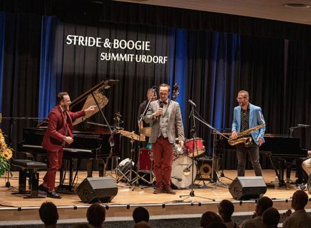 «Stride and Boogie Summit 2019»: Am Schluss standen vier Pianisten an einem Flügel