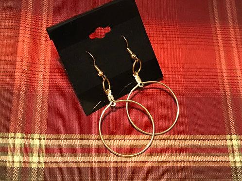 Gold Toned Hoop Earrings