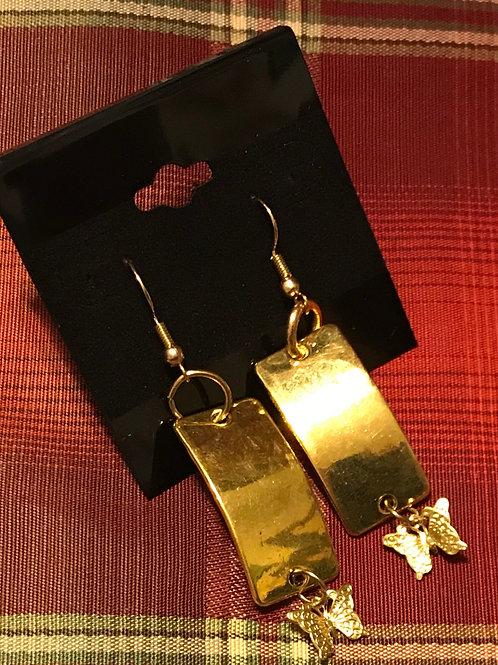Gold Toned Earrings